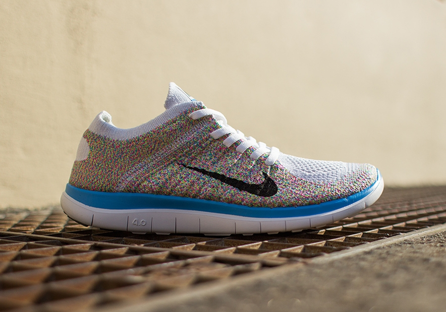 nike free 4.0 flyknit multicolor womens athletic shoes