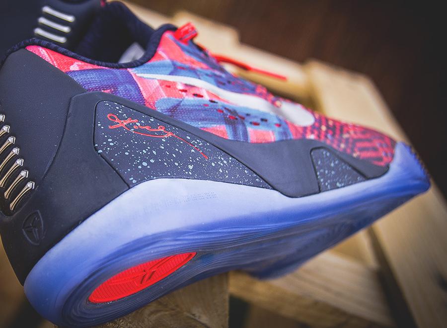 wholesale dealer 8f58a 24bc9 Nike Kobe 9 EM Premium QS - Laser Crimson - Reflective Silver - Obsidian -  SneakerNews.com