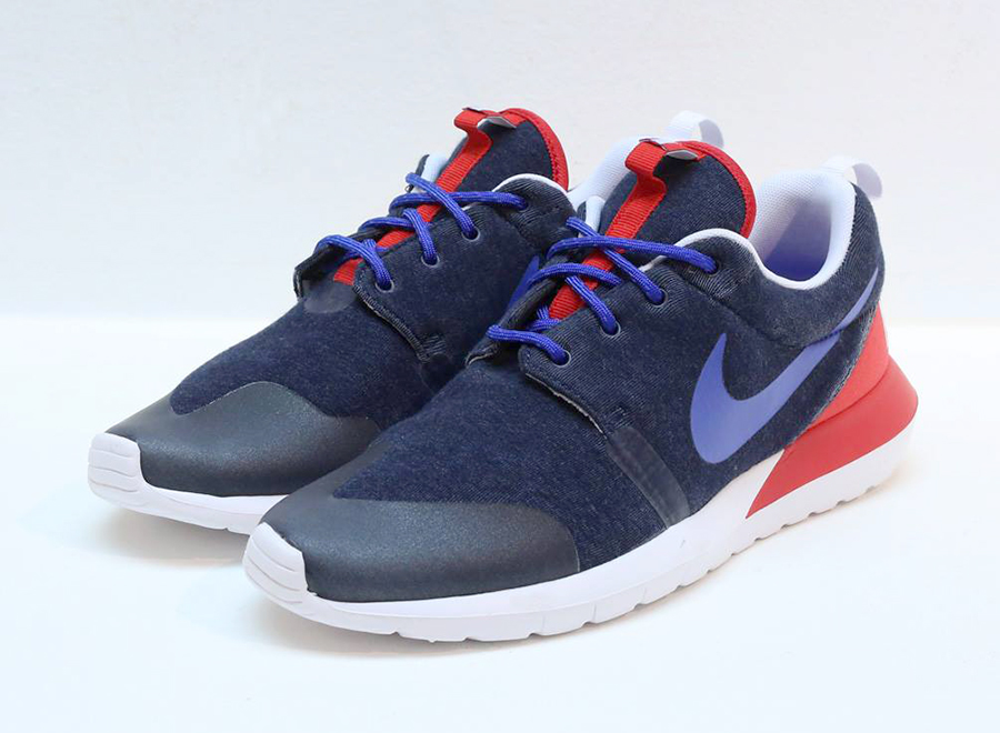 "48c523e8d311 Nike Rosherun NM W SP ""France"" Color  Navy Heather Game Royal-University  Red Style Code  652804-446. Price   125"