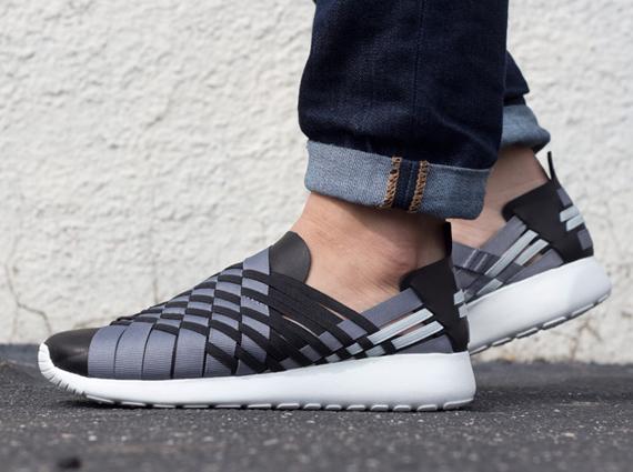 new concept 630eb dfacf Nike Roshe Run Woven 2.0 - Black - Grey - SneakerNews.com