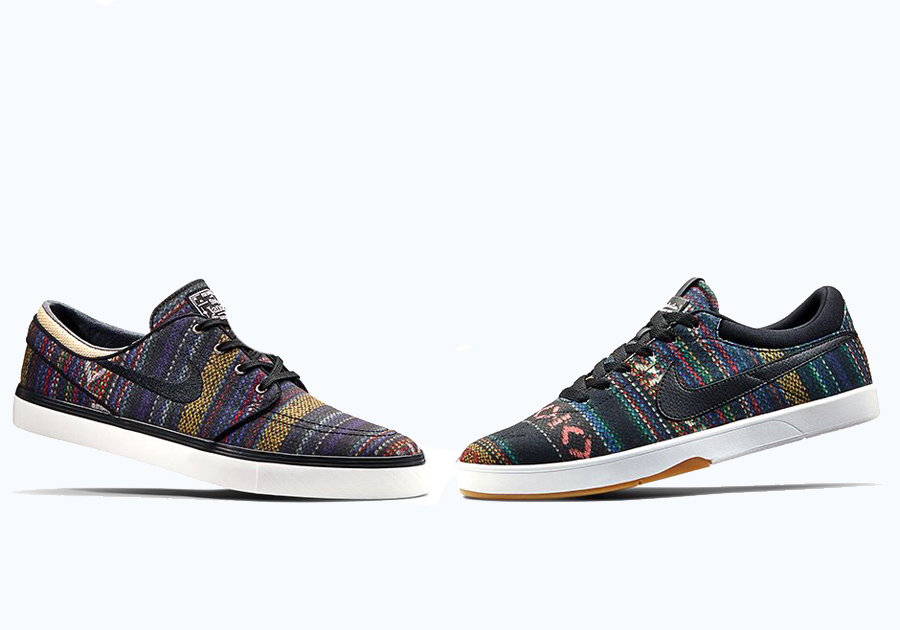 Nowy Jork trampki na stopach o Nike SB Stefan Janoski + Koston SE