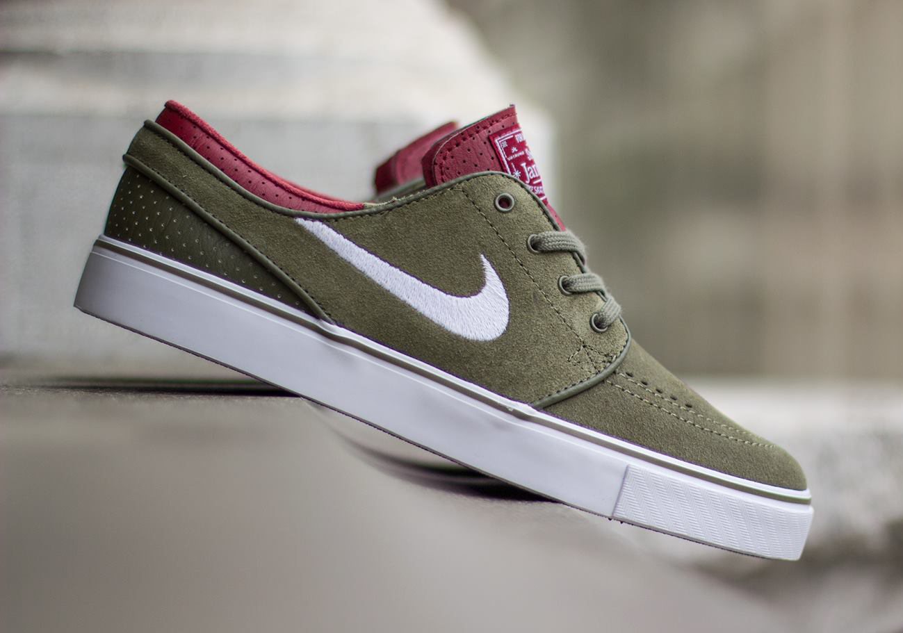 nike sb stefan janoski medium olive white team red. Black Bedroom Furniture Sets. Home Design Ideas