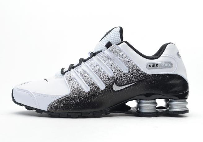 Nike Shox Black White Silver