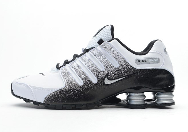 meet 0b8b8 6739a Nike Shox NZ – Black – White – Metallic Silver