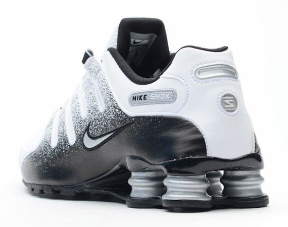 56ba07242f3cf9 Nike Shox NZ Black White Metallic Silver 60%OFF - ramseyequipment.com