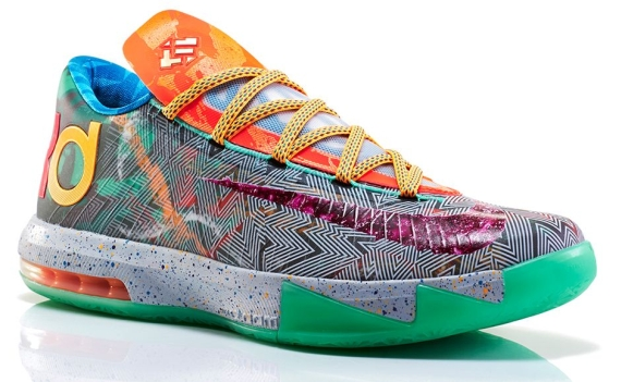 a944ade212b2 Nike What the KD 6. Color  Hoop Purple Urgent Orange-Shark Style Code   669809-500. Release Date  06 07 14. Price   150