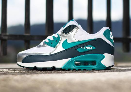 Nike Womens Air Max 90 – White – Turbo Green – Nightshade
