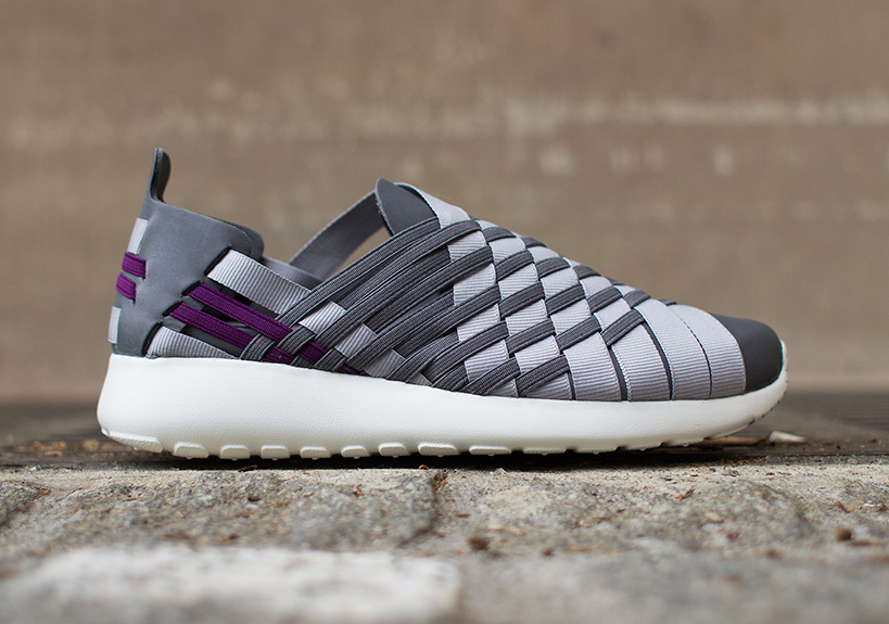 differently f110c 5b1c7 Nike Roshe Run Woven 2.0 – Cool Grey – Bright Grape