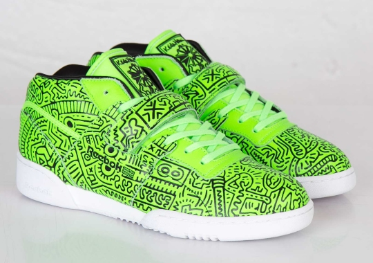 Keith Haring x Reebok Workout Mid Strap INT