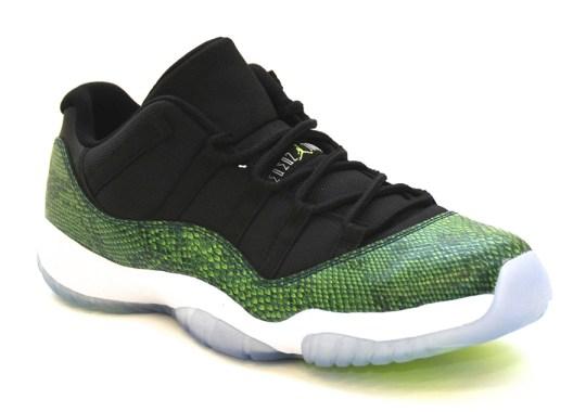 """Air Jordan 11 Low """"Green Snake"""" – Arriving at Retailers"""