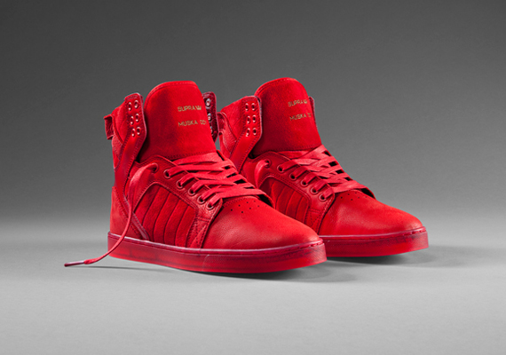 Red High Top Supra Shoes