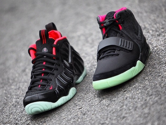 """A Quick Comparison of """"Solar Red"""": Air Yeezy 2 vs. Foamposite"""