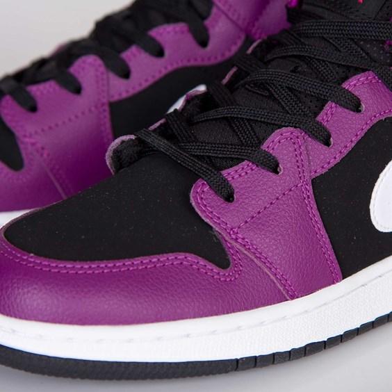 save off 05225 843da 60%OFF Air Jordan 1 Mid GS Bright Grape Vivid Pink