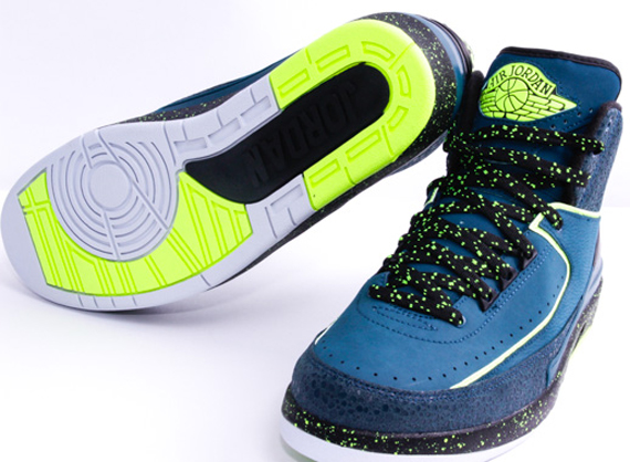 """5009939e19a2 Air Jordan 2 """"Nightshade"""" Color  Nightshade Volt Ice-Black-Pure Platinum  Style Code  385475-303. Release Date  05 17 14. Price   150"""