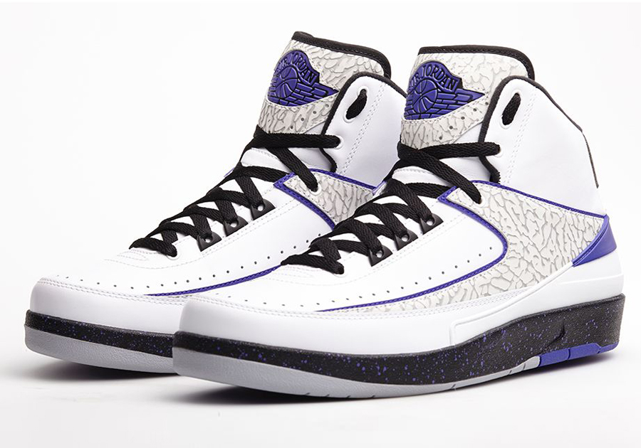 Nike Air Jordan 2 II Retro Elephant White Dark Concord Grey