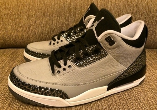 low priced de395 19b67 Jordan 3 Wolf Grey - SneakerNews.com