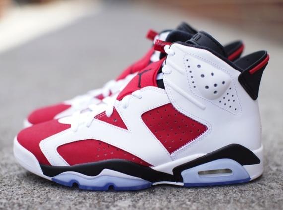 "1228fc45762b Air Jordan 6 ""Carmine"" Color  White Carmine-Black Style Code  384664-160.  Release Date  05 24 14. Price   170 Available on eBay"