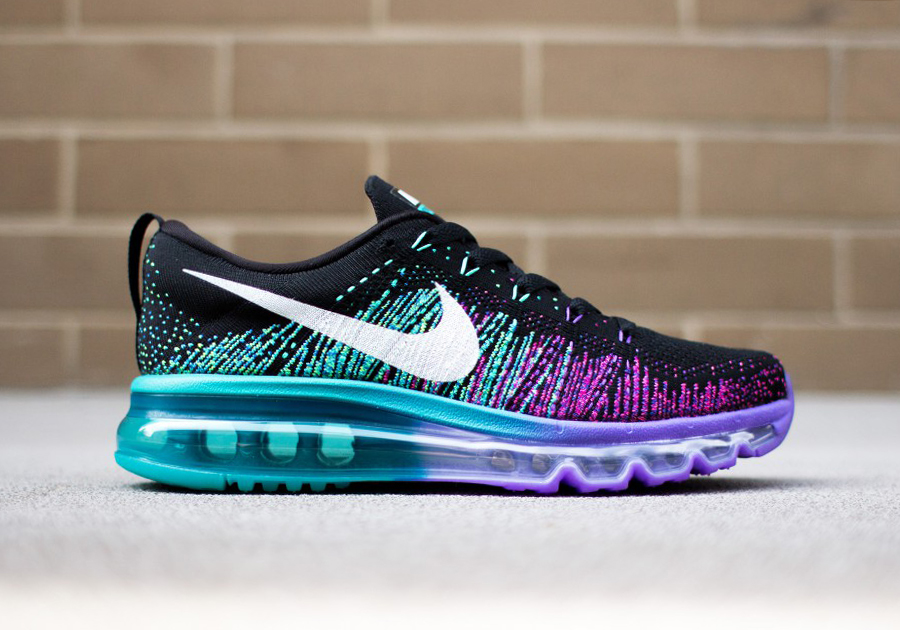 nike flyknit air max blue purple