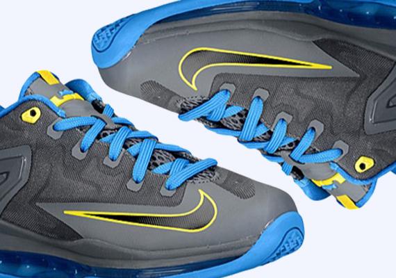 ac23a69246b6 Nike LeBron 11 Low GS - Dark Grey - Black - Photo Blue - Tour Yellow -  SneakerNews.com