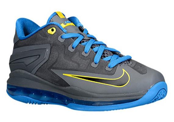 Nike LeBron 11 Low GS - Dark Grey - Black - Photo Blue ...