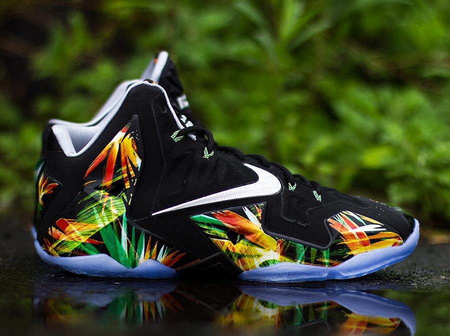 """c8cefef5d63 ... SpringGreenBlack 616175-032 Nike LeBron 11 """"Everglades"""" – Release  Reminder ..."""