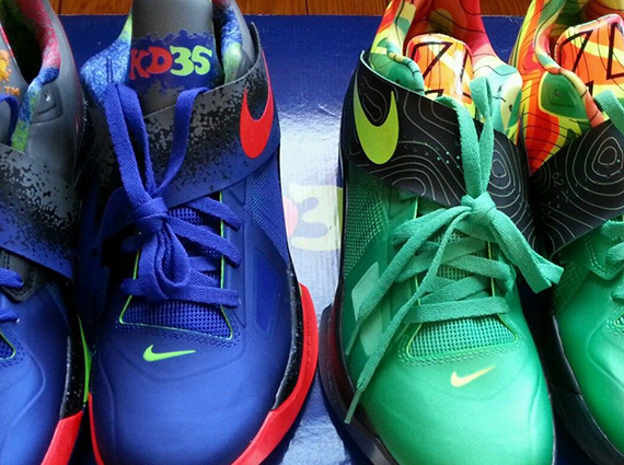 461832d18be1 free shipping Nike KD IV quot Nerfquot amp quot Weathermanquot Set on eBay