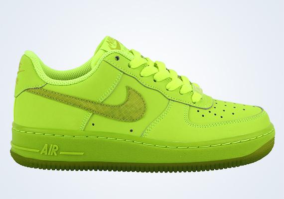 neon green nike air force 1