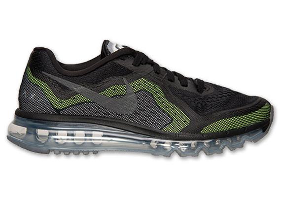 Nike Air Max 2014 Black Metallic Silver Volt