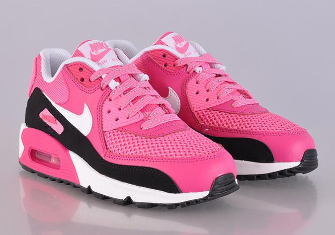 Nike Air Max 90 GS - Vivid Pink - White - Pink Glow - Black - SneakerNews.com