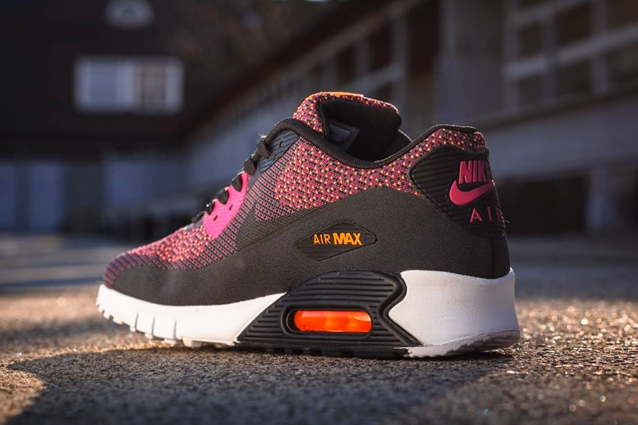 online store fb73a fd535 Nike Air Max 90 Jacquard - Bright Magenta - Black - Total Orange -  SneakerNews.com