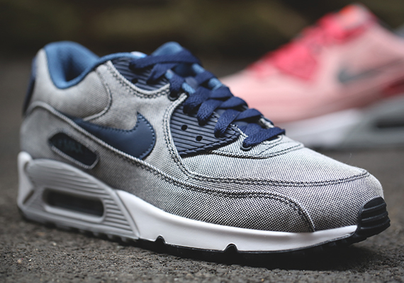 nike air max 90 obsidian/white-wolf grey-photo blue