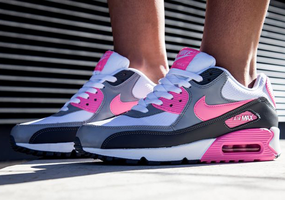 25fd43a0fea0 Nike Air Max 90 - White - Pink Glow - Wolf Grey - SneakerNews.com