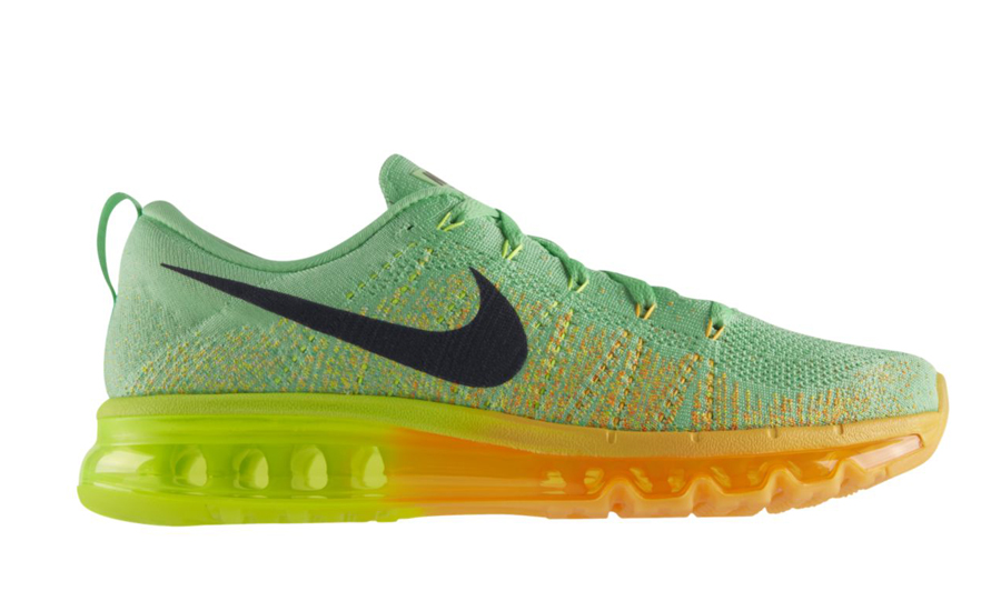 2988244afe761 Nike Flyknit Air Max Color  Light Lucid Green Black-Atomic Mango-Volt Style  Code  620469-300. Price   225