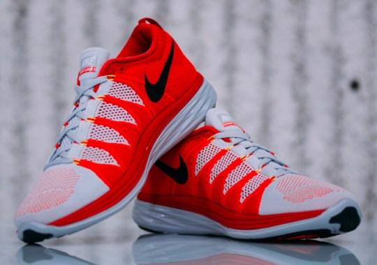 Nike Flyknit Lunar2 – Pure Platinum – Black – Laser Crimson
