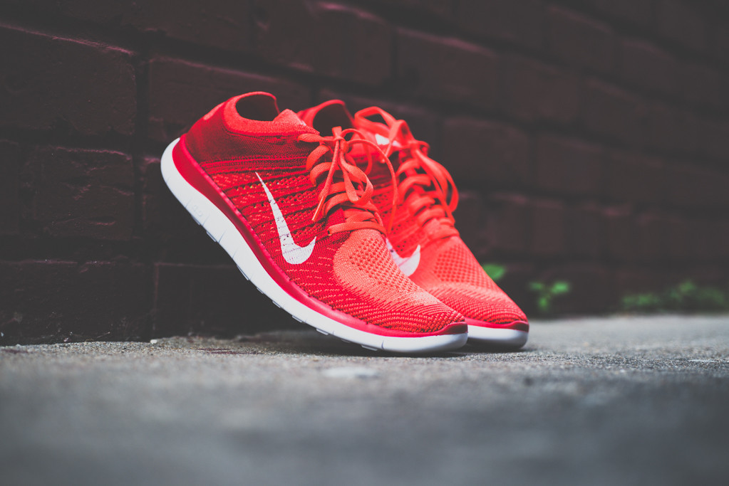 "timeless design 7d6da e373c ... red Nike Free 4.0 Flyknit ""Bright Crimson"" ..."