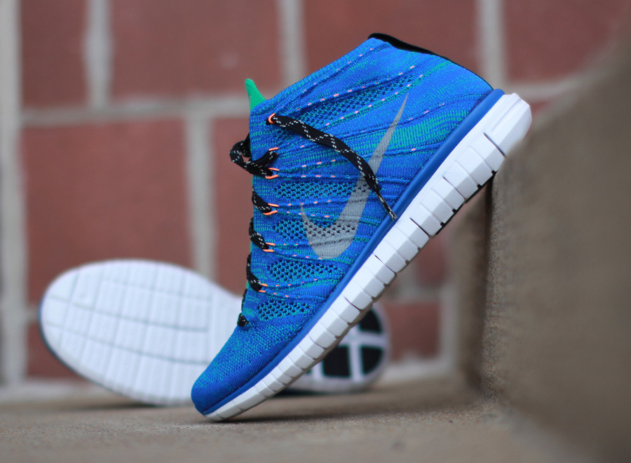 nike free flyknit chukka quotgame royalquot available