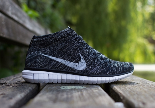 Nike Free Flyknit Chukka – Black – Pure Platinum – Dark Grey