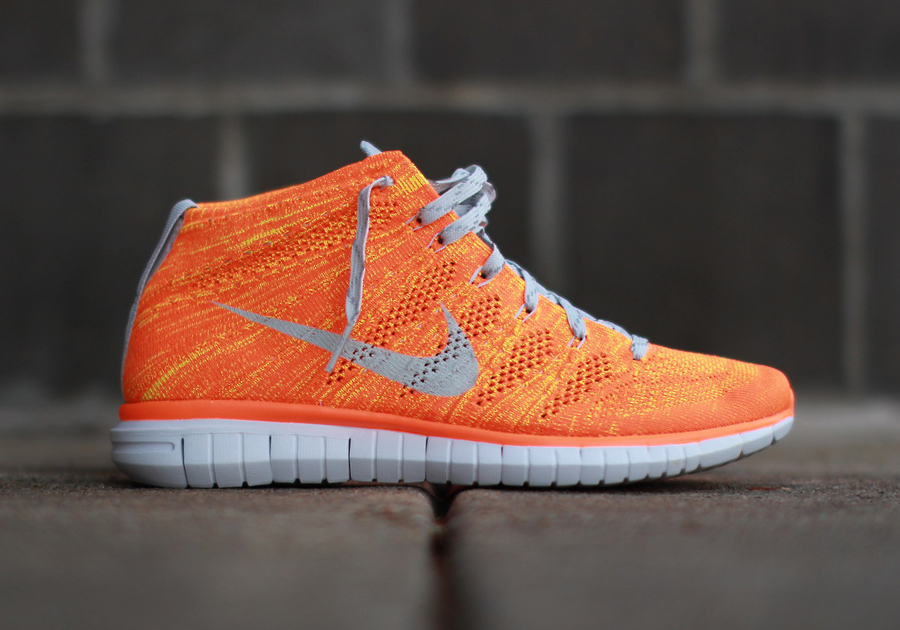 nike free flyknit chukka quottotal orangequot available