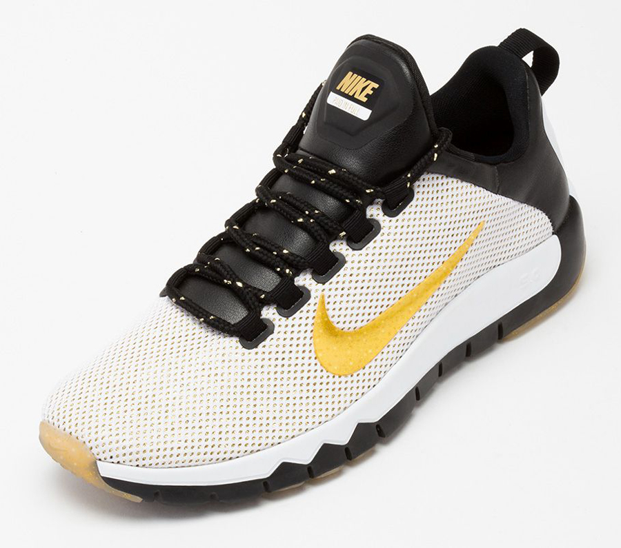 nike free run 5.0 white and gold