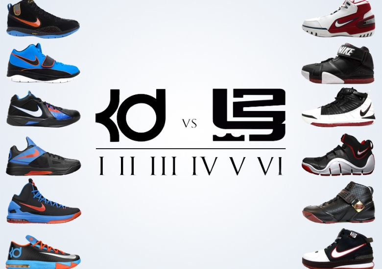 uk availability 16be9 6251d Comparing the Nike KD and LeBron Through The First Six Models