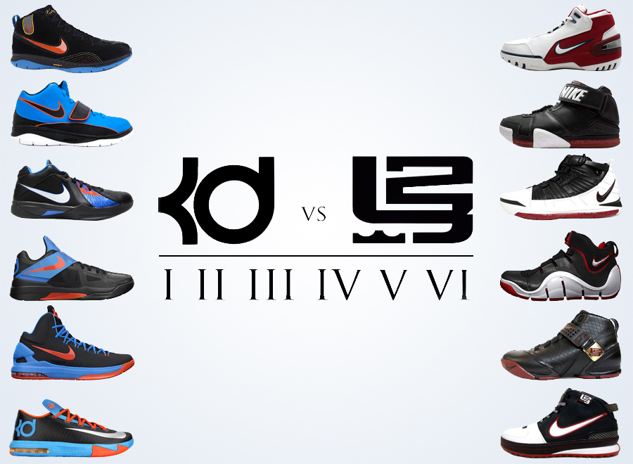 timeless design 42f03 c7202 Comparing the Nike KD and LeBron Through The First Six Models -  SneakerNews.com