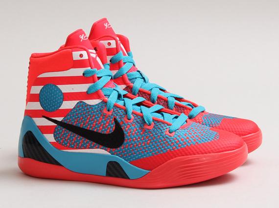 online store af9c8 22950 Nike Kobe 9 Elite GS – Laser Crimson – Black – Turquoise Blue