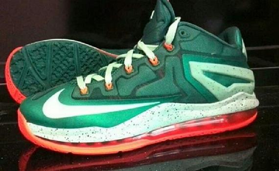 Nike LeBron 11 Low - Green - Orange - SneakerNews.com