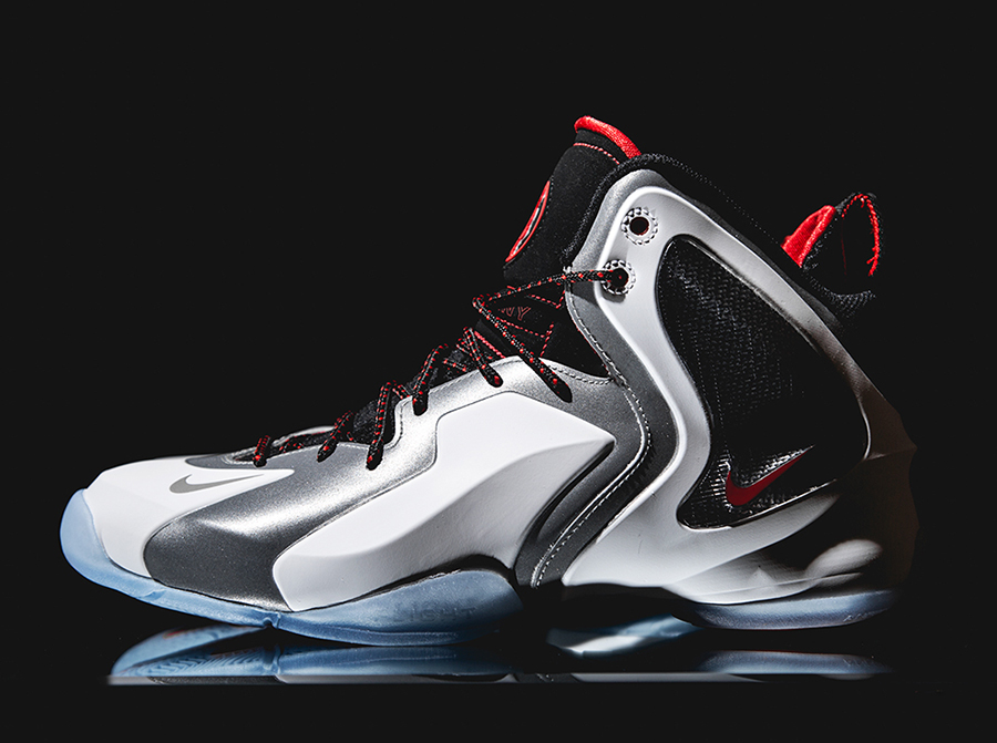 nike lil penny posite white metallic silver red release date 2 Nike Lil Penny Posite Challenge Red Release Date
