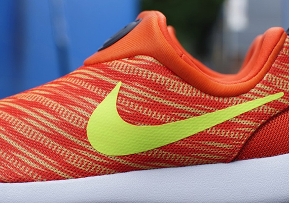 hot sale online 14df0 42f91 Nike Roshe Run Slip-On GPX – Electric Orange – Volt – Atomic Mango