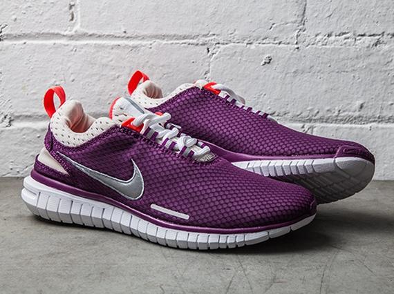 Nike Womens Free OG Breeze – Bright Grape – Laser Crimson