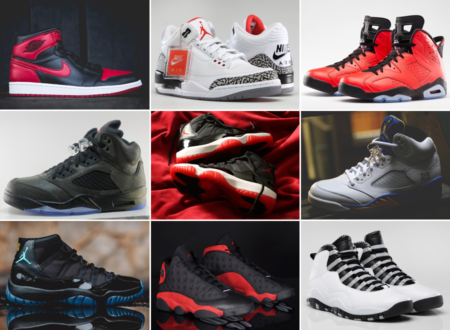 list of all jordan sneakers