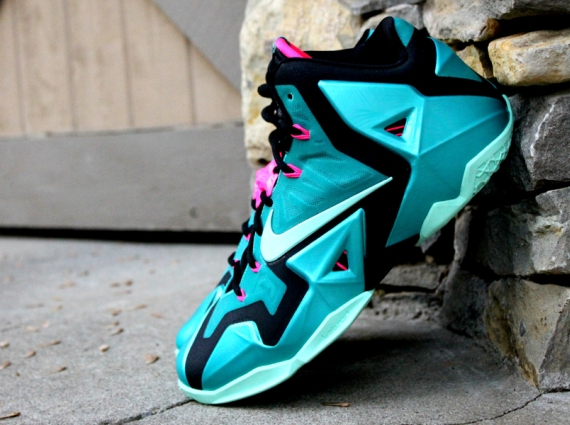 """0ff55d81be51 Nike LeBron 11 """"South Beach"""" Color  Sport Turquoise Medium Mint-Black Style  Code  616175-330. Release Date  06 21 14. Price   200"""