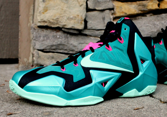 "factory authentic 9e023 34c22 Nike LeBron 11 ""South Beach"" – Release Date"