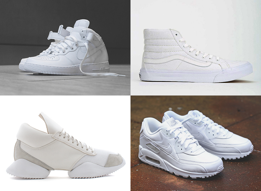 white sneakers for summer